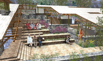 Studio Wikitecture consisted of over 40 Second Life avatars who collaborated online to design this Nyaya Telemedicine Center entry.
